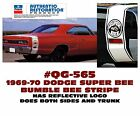 QG-565 1969-70 DODGE CORONET SUPER BEE - BUMBLE BEE STRIPE - LICENSED  for sale