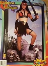 Vintage 10 pc Women's One Hot Medieval Skull Warrior COSTUME Halloween NW latex