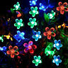 50 LED Solar String Lights 8 Modes Flash Flower Bulbs Outdoor Party Decoration
