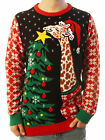 Ugly Christmas Party Sweater Unisex Men's Giraffe Hanging Star On Tree