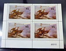 Us 1985 $5 Wild Turkey Grand Slam Stamp Plate Block Of Four Mnh #Wtgs01