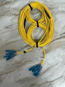 30M 12-Fiber with 4 Strand Uniboot Single Mode LC to LC Fiber Optic Cable