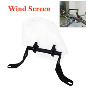 Motorcycle Front Windshield Bracket Sand Prevention Deflector Extension Clip Kit