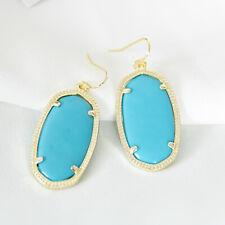 Kendra Scott Elle Gold Drop Earrings In Turquoise NEW