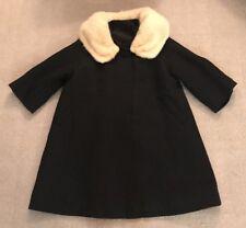 Lepp & Company Women's Black Patterned Coat Fur Union Made  #7976 #E4