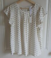 NWT Amadi Anthropologie Womens Clip Dot Aria Shimmer Blouse Top Shirt Size Small
