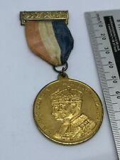 Original 1937 King George VI & Queen Elizabeth Coronation Medal With Ribbon