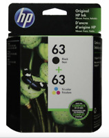 HP #63 Combo Ink Cartridges 63 Black & Color