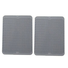 "Winprice Silicone tableware dish drying mat Dish Drying Mat 15.8"" x 12""- 2pcs,"