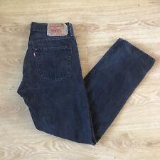 Levi's Levi 501 Jeans para Hombre de Diseñador Negro W33 L32. 33 X 32