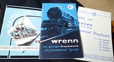 1960 Wrenn OO gauge Trackwork catalogue & price list+ Hamblings 00 catalogue