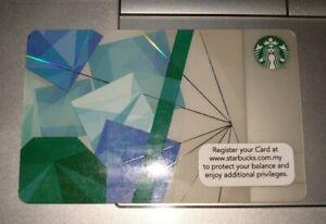 Starbucks Gift Card Malaysia 2018 2019 Green Blue Diamond Shapes Design 星巴克卡青蓝钻石