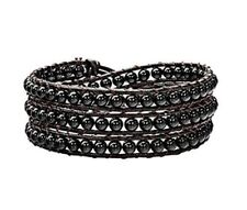 Agate Leather Wrap Costume Bracelets