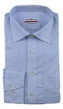 Camisas de vestir de hombre azules blancos de 100% algodón