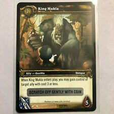 WOW TCG - King Mukla unscratched Loot Card