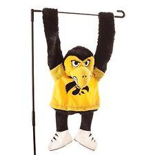 Iowa Hawkeyes - Hirky -Mascot Hanging Garden Size Charm ..12.....BSI 83524