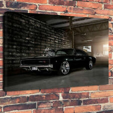 "Classic American Car Printed Canvas Picture A130""x20"" 30mm Deep Wall Art Mancave"