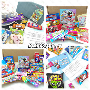 Retro Sweet Hamper Gift Box Old School Classic Candy Mix Letterbox Personalised