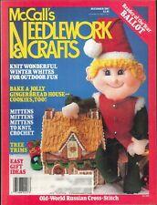 McCalls Needlework & Crafts Dec 1987 Winter Whites Gingerbread House Mittens Elf