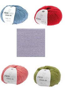 Rico Design Baby Classic dk 50g  Babygarn Farbauswahl  *FlinkeNadel-Shop*