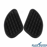 2Pcs Motorcycle Vintage Gas Fuel Tank Knee Pads Side Panels Rubber Universal Fit