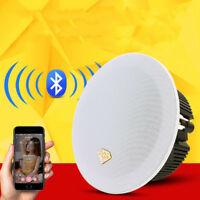 Bluetooth Ceiling Speakers Wall Speakers Wireless Kit Amplifier for Home Kitchen