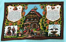 Vtg Bavarian Recipe Dish Cloth Curtain Kitsch Germany Swiss French Traminer