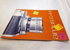 Argus C-44 Télémètre Appareil Photo Instructions Guide Manuel Anglais