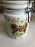Vintage Canister Hallmark's Houston Harvest Teddy Bear Tea Party