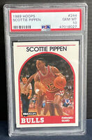 1989 NBA Hoops Scottie Pippen PSA 10 GEM Mint #244 Bulls 2nd Year (not Rookie)