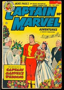 Captain Marvel Adventures #150 Low Distribution Last Issue Fawcett Comic 1950 VG