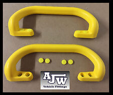 2 x Large Steel Core Yellow Grab Pull Handle Trailer Horsebox Taxi Bus Tractor