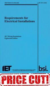 IET WIRING REGULATIONS BS 7671 2018 18th Ed Blue 9781785611704