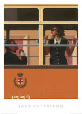 THE LOOK OF LOVE ART PRINT BY JACK VETTRIANO couple on train romance poster