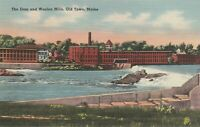 (Z)  Old Town, ME - The Dam and Woolen Mills from Other Side of River