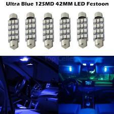 6pcs Super Blue Led 12Smd 42Mm Map Light Dome Light 216-2 212(Fits: Neon)
