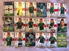 PANINI ADRENALYN XL EURO 2020 FULL TEAM SET OF 18 NORTHERN IRELAND CARDS MINT