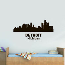 Wall Vinyl Sticker Bedroom Decal Megapolis Town City Skyline Z2137