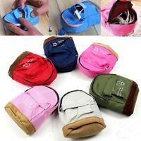 Women Mini Backpack Flower Coin Bag Wallet Hand Pouch Purse Key Holder  c