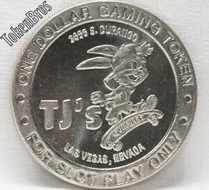 $1 ROUTE SLOT TOKEN TJ's QUIK MART CASINO 1997 CT MINT LAS VEGAS NEVADA COIN