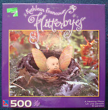 jigsaw puzzle 500 pc Kathleen Francour Flutterbyes a Nesting Place baby