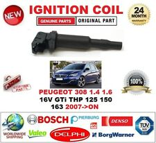FOR PEUGEOT 308 1.4 1.6 16V GTi THP 125 150 163 2007-> SINGLE IGNITION COIL 3PIN