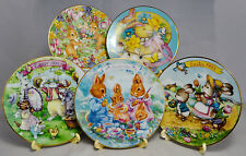 Avon Collectible Easter Plates - 1992-96 - 5 Inch Plate 22K Gold Trim - Set of 5