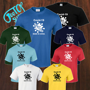 New 1Covid9 Vaccinated Inspired Virus Made In China Tshirt kids 5yrs-adult S-5XL