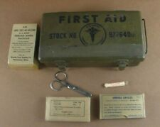 Vintage Us Army Medical Department Stock Number 9776400 First Aid Kit Some Conte