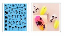 Nail Water Transfer Stickers Palm Holiday DLS-247 decals