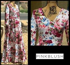 PINKBLUSH WOMEN'S Floral  Size Small  Maternity Wrap Maxi Dress $68 *NEW*