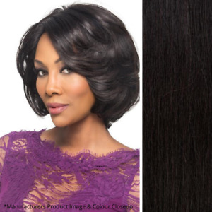 Imperfect Vivica Fox Kaia Wig - Lace Front - 100% Human Hair - Color Off Black