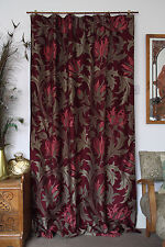 "William Morris Fabric Velvet Lined Door Curtain  85"" Drop Made To Order SALE"