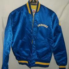 Vintage Starter Milwaukee Brewers Snap Up Satin Bomber Jacket M Medium Mens USA